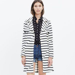 Madewell Parcel Stripe Trench Coat